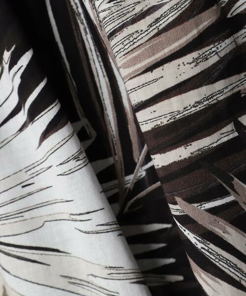 INED / イネド ロング・マキシ丈スカート | リーフ柄フレアスカート 《Viscotecs》 | 詳細8