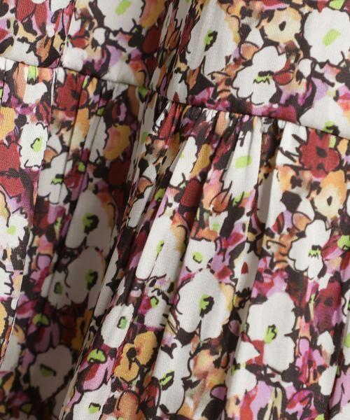 INED / イネド ミニ・ひざ丈スカート   ティアードプリントスカート《Viscotecs》   詳細5