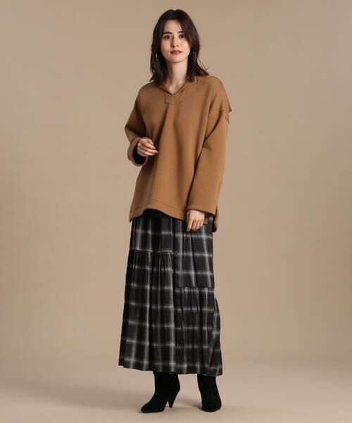 INED / イネド ミニ・ひざ丈スカート   ティアードプリントスカート《Viscotecs》   詳細8