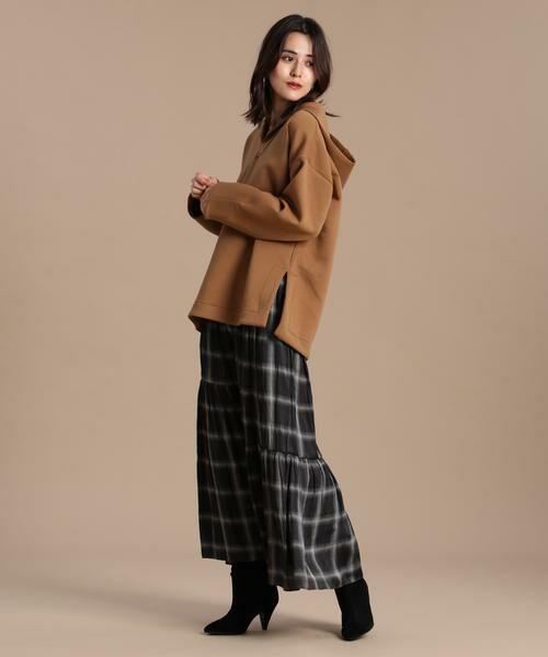 INED / イネド ミニ・ひざ丈スカート   ティアードプリントスカート《Viscotecs》   詳細9