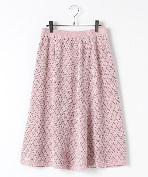 キルティング風ジャガード編みニットスカート