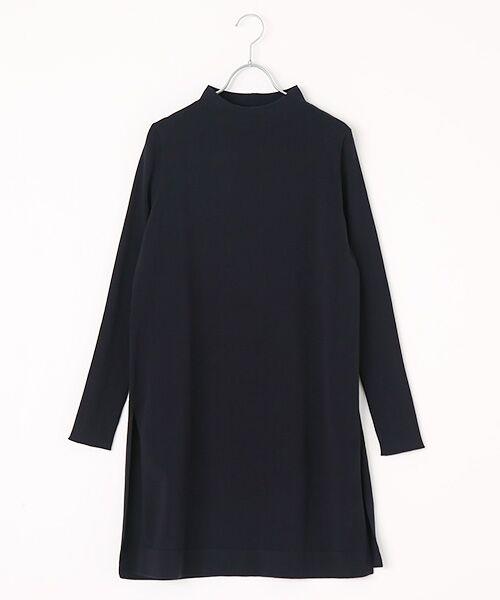 INGEBORG / インゲボルグ ニット・セーター | モックネックロング丈セーター(ネイビー)