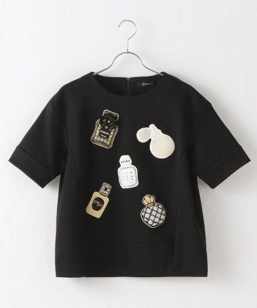 INGEBORG / インゲボルグ Tシャツ | 【アウトレット】香水瓶モチーフプルオーバー(クロ)