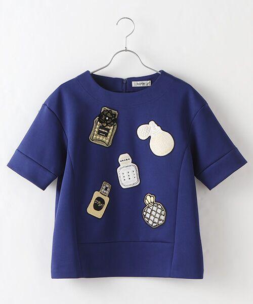 INGEBORG / インゲボルグ Tシャツ | 【アウトレット】香水瓶モチーフプルオーバー(ブルー)