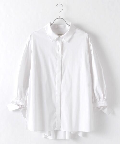 INGEBORG / インゲボルグ シャツ・ブラウス | お袖ふんわりカフスリボンブラウス(ホワイト)