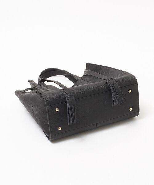 interstaple / インターステイプル トートバッグ   【新色追加】ポーチ付きタッセルレザーミニ   詳細11