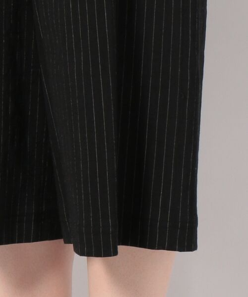 JANE MORE / ジェーン モア その他パンツ | リネンストライプ クロップドワイドパンツ | 詳細9