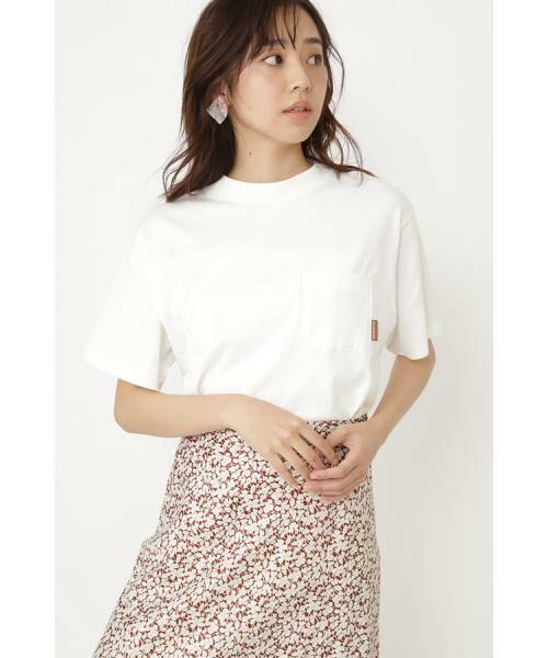 JILLSTUART / ジルスチュアート カットソー | ポケットTシャツ(CHALK)