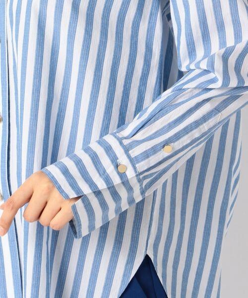 自由区 / ジユウク トップス | 【マガジン掲載】TIMELESS イタリアCANGIOLI ロングシャツ(検索番号C46) | 詳細9