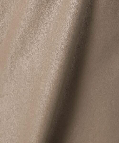 自由区 / ジユウク ノーカラージャケット | 【亜希さん着用】ラムレザー ジャケット(検索番号N36) | 詳細16