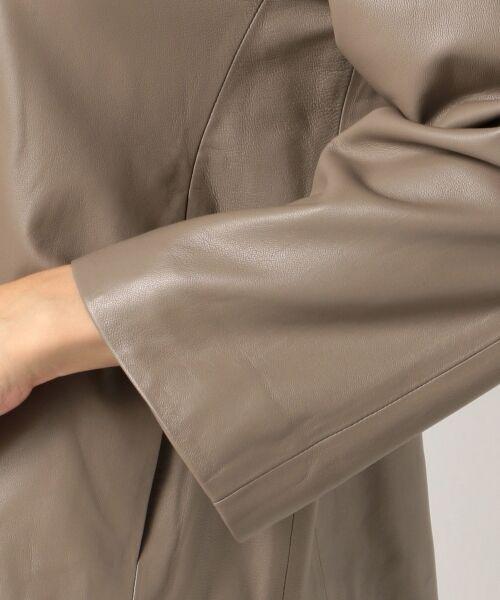 自由区 / ジユウク ノーカラージャケット | 【亜希さん着用】ラムレザー ジャケット(検索番号N36) | 詳細7