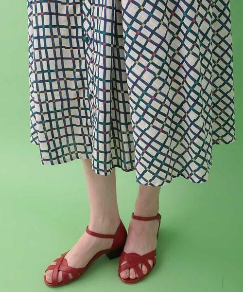 Jocomomola / ホコモモラ ロング・マキシ丈スカート | Cuadro pt チェック総柄スカート | 詳細5