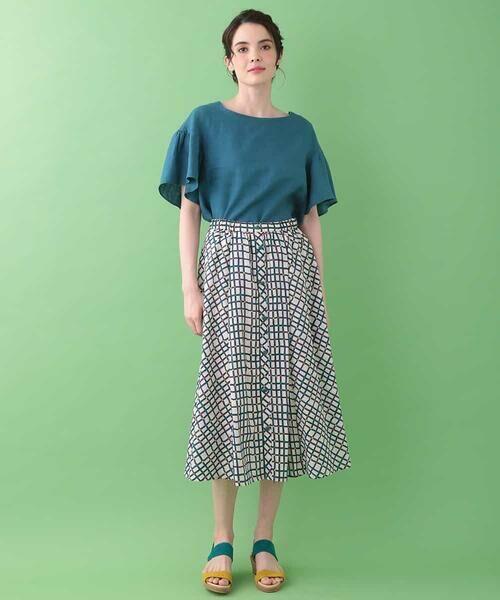 Jocomomola / ホコモモラ ロング・マキシ丈スカート | Cuadro pt チェック総柄スカート | 詳細7