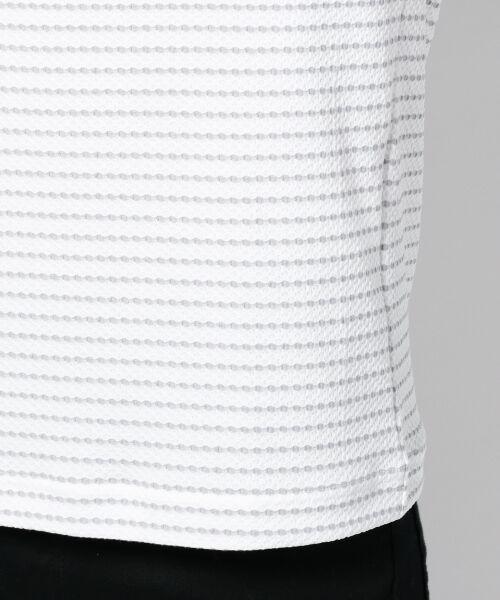 JOSEPH ABBOUD / ジョセフ アブード Tシャツ | ダイヤジャガードボーダー カットソー | 詳細5