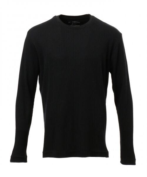 JOSEPH ABBOUD / ジョセフ アブード Tシャツ | 【JOE COTTON】ワッフル カットソー(ブラック系)