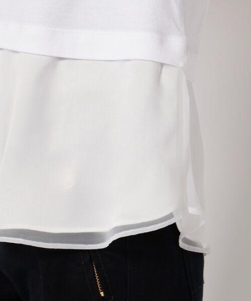 J.PRESS / ジェイプレス Tシャツ | レイヤードジャージー シフォンカットソー | 詳細5