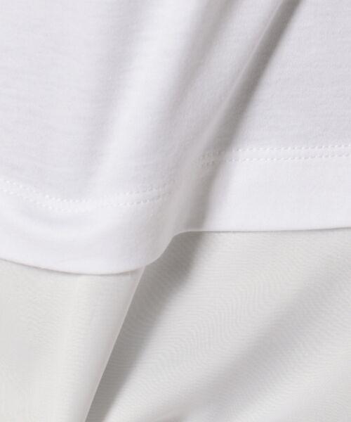 J.PRESS / ジェイプレス Tシャツ | レイヤードジャージー シフォンカットソー | 詳細6