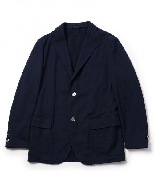 J.PRESS / ジェイプレス テーラードジャケット | 【KARL MAYER】 LITE SLIPON ジャケット(ネイビー系)