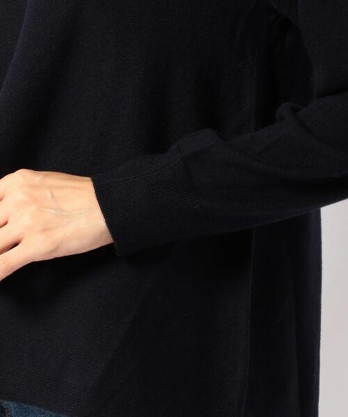 J.PRESS / ジェイプレス ニット・セーター | 【洗える!】セミ梳毛天竺 ポンチョ風ニット | 詳細25