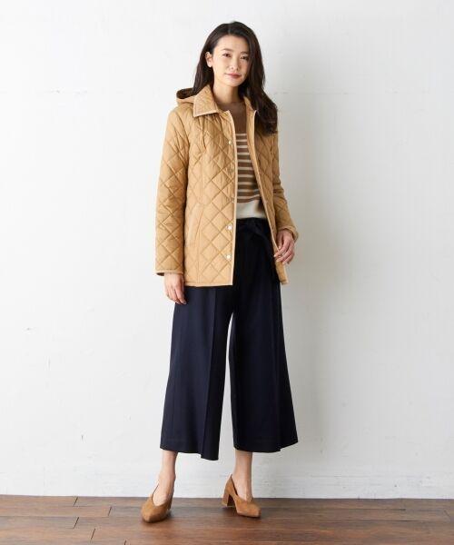 【定番人気】中綿キルティング ミドル丈コート