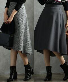 【リバーシブル】T/Rボンディング スカート