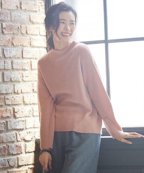 J.PRESS / ジェイプレス ニット・セーター | 【洗える】片畦ニット(ピンク系)