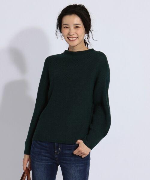 J.PRESS / ジェイプレス ニット・セーター | 【洗える】片畦ニット(ダークグリーン系)