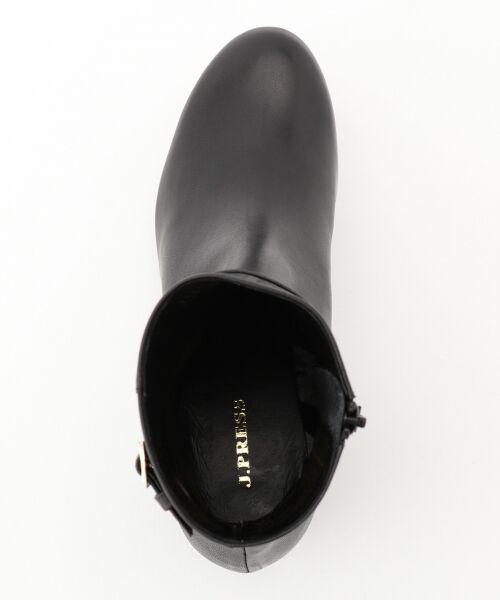 J.PRESS / ジェイプレス ブーツ(ロング丈)   【履き心地にこだわった】チャンキーヒール ショートブーツ   詳細7