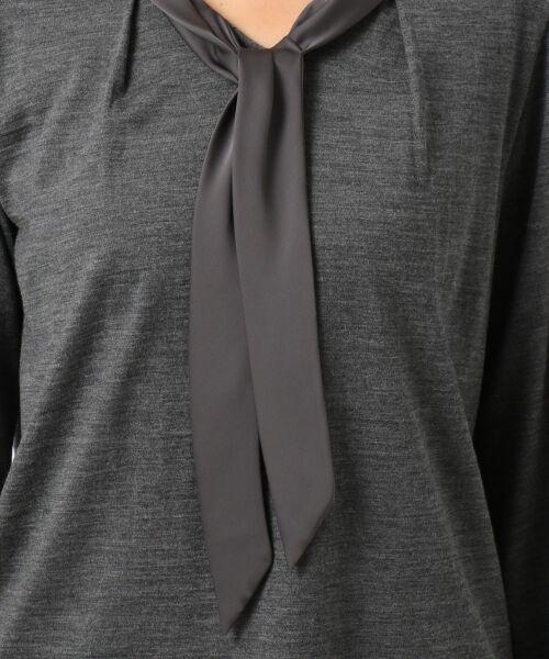 J.PRESS / ジェイプレス Tシャツ | ウォッシャブルウールジャージーボウタイ付 カットソー | 詳細7