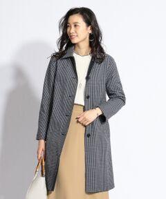 【リバーシブル】ドライチェック ステンカラーコート