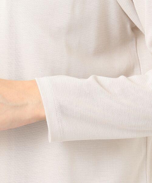J.PRESS / ジェイプレス カーディガン・ボレロ   【UVカット・接触冷感】3Dフライス ロングカーディガン   詳細8