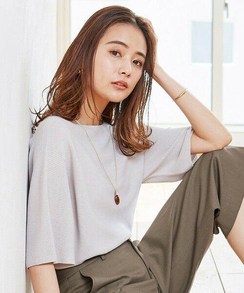 J.PRESS / ジェイプレス ニット・セーター   【洗える】リネンミックスホールガーメント ニット(ライトグレー系)