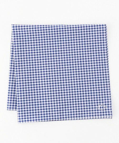 J.PRESS / ジェイプレス ハンカチ | バックブル刺繍 カジュアル ハンカチ(ブルー系3)