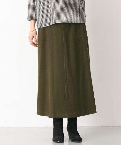 かぐれ / かぐれ スカート | 起毛サテンマキシスカート(KHAKI)