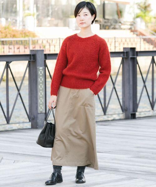 かぐれ / かぐれ スカート | 起毛サテンマキシスカート | 詳細1