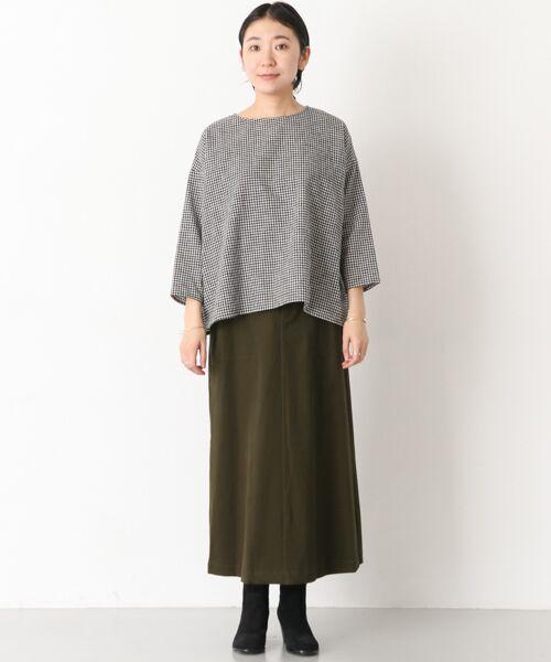 かぐれ / かぐれ スカート | 起毛サテンマキシスカート | 詳細3