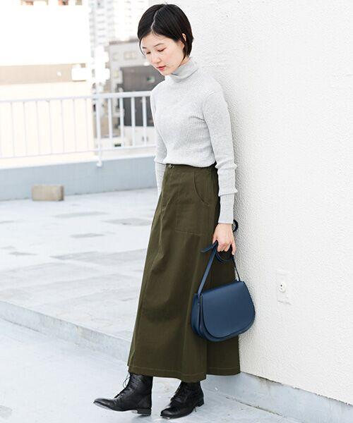 かぐれ / かぐれ スカート | 起毛サテンマキシスカート | 詳細4