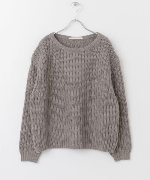 かぐれ / かぐれ ニット・セーター | アルパカオーバープルオーバー(GRAY)
