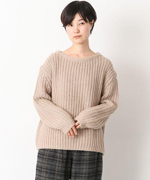 かぐれ / かぐれ ニット・セーター | アルパカオーバープルオーバー(BEIGE)