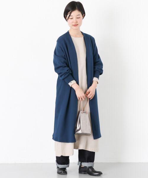 かぐれ / かぐれ その他アウター   コットン裏毛ライトコート(BLUE)