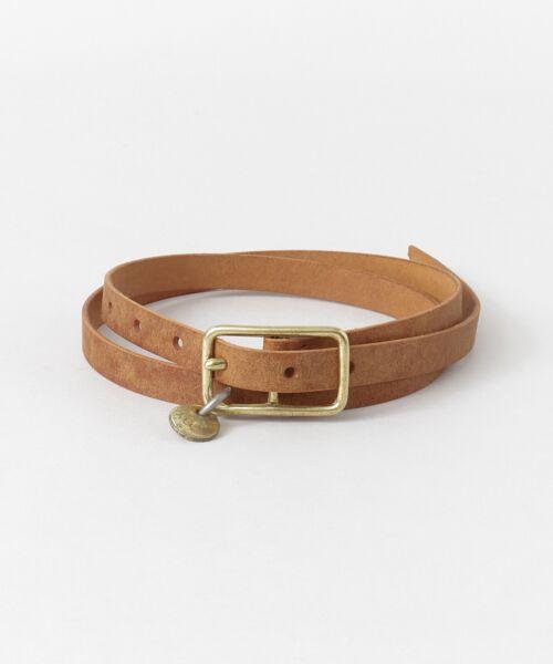 かぐれ / かぐれ ベルト・サスペンダー | MASTER&Co. leather belt(83brown)