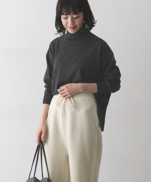 かぐれ / かぐれ ニット・セーター | ウールワイドタートルネックニット(CHARCOAL)