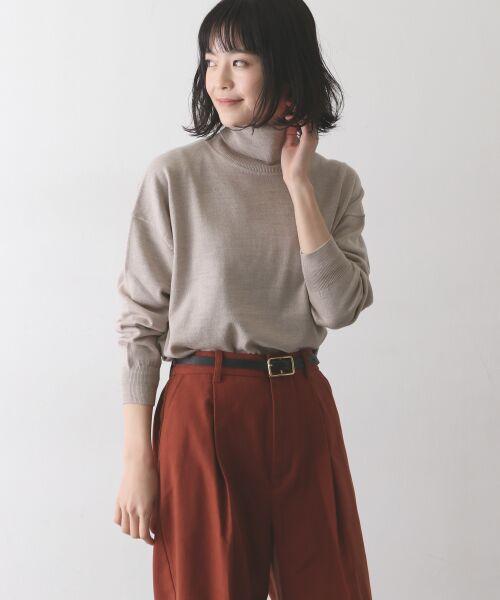 かぐれ / かぐれ ニット・セーター | ウールワイドタートルネックニット(BEIGE)