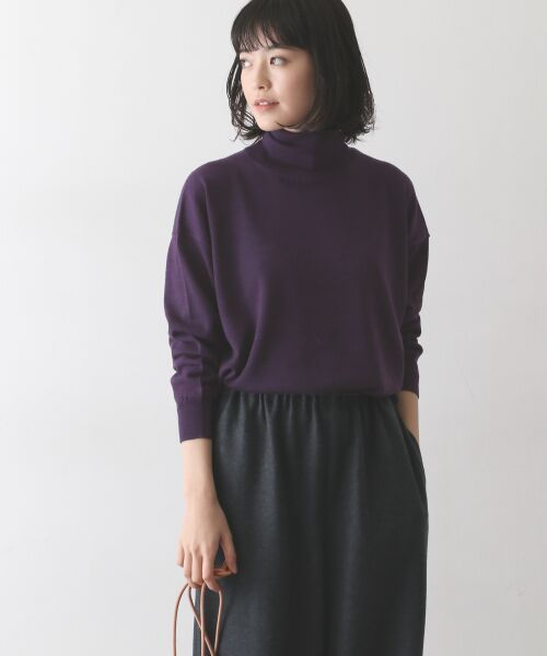 かぐれ / かぐれ ニット・セーター | ウールワイドタートルネックニット(PURPLE)