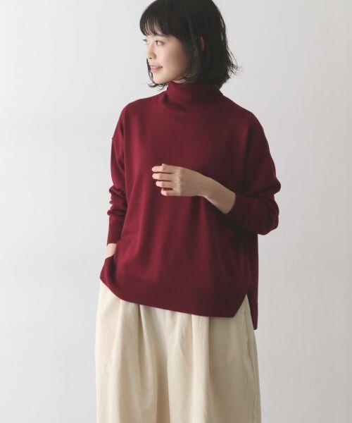 かぐれ / かぐれ ニット・セーター | ウールワイドタートルネックニット(RED)