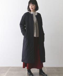 【Recommend Item】シルエットがきれいなノーカラーコート