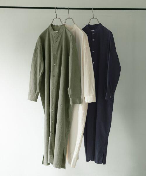 かぐれ / かぐれ ワンピース | コットンシルクシャツワンピース | 詳細10