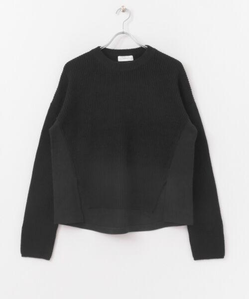 かぐれ / かぐれ ニット・セーター | スウェットコンビプルオーバーニット | 詳細10