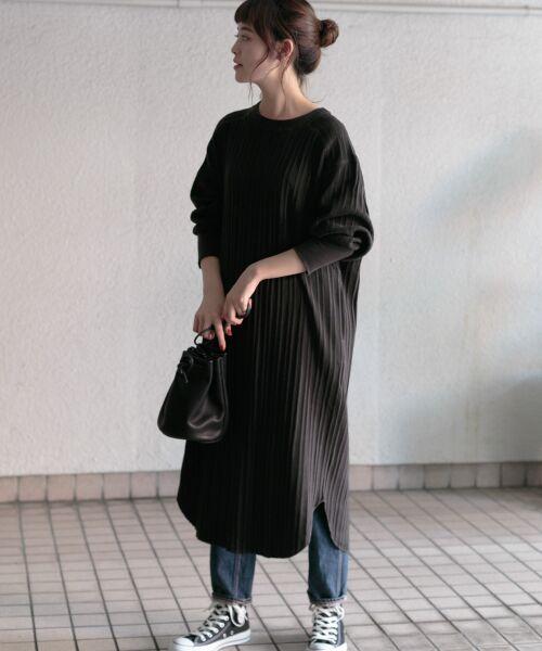 かぐれ / かぐれ ワンピース | コットンリブカットワンピース(BLACK)