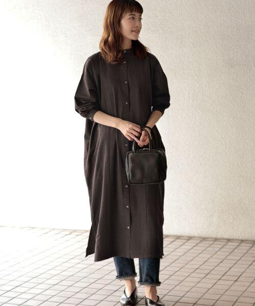 かぐれ / かぐれ ワンピース | ピンタックワイドシャツワンピース(INK BLACK)